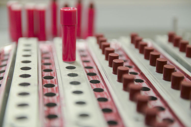 Close-up of lipstick being prepared in factory