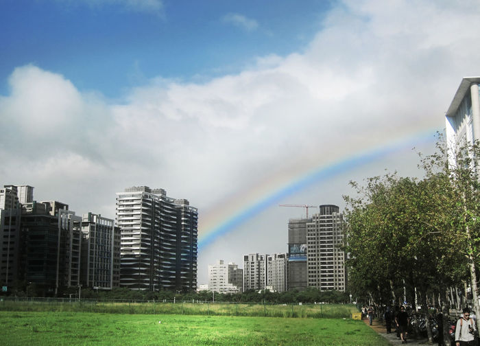 Built Structure City Cloud - Sky Hsinchu, Taiwan Outdoors Rainbow 新竹高鐵站