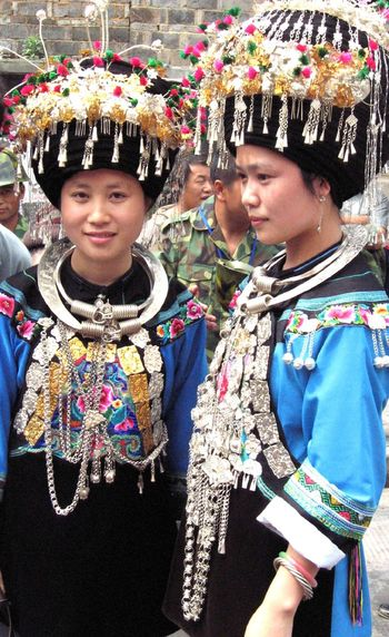Ancient Civilization Ancient Culture Ancient Town China China Beauty Chinese Culture Chinese Girl Ethnic FengHuang Friendship Girls Happiness Hmong Hunan Lifestyles Miao Minority Person Portrait Shangri-La Smiling Tuo River