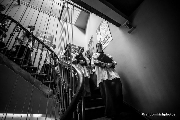 Choristers heading down to 10am mass at Dublin's Pro Cathedral today. Ireland Dublin Eye4black&white  EE_Daily: Black And White