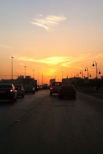 Tadaa Community Relaxing with sky ? On The Road مساء_الورد