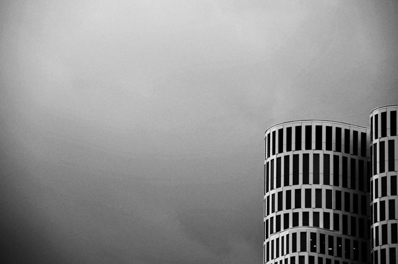 Black And White Friday Architecture No People Building Exterior Modern Outdoors Sky Day Upper West
