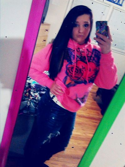 Wearing my babies hoodie that he got me!!! Gosh words can't explain how much I love and how much I have feeling for him!!(: MyWorld ♡ Ilovehim♥ I Feel Like The Luckiest Girl In The World ♥ Myboyfriendisbetterthanyours
