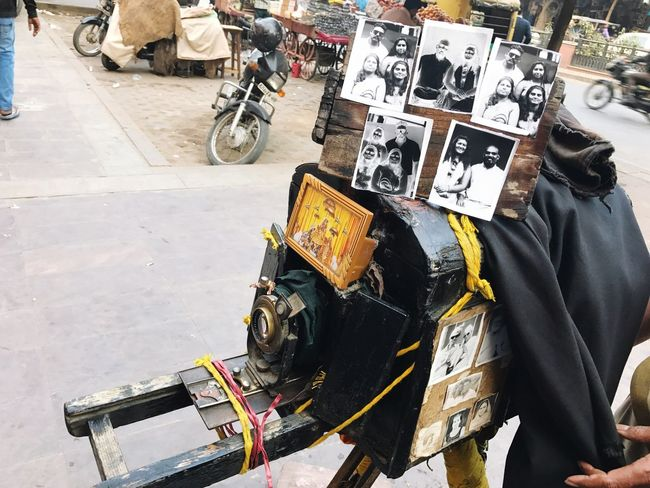 This is a 150 years old camera and the outcome. This camera was in use from 1866.Its really surprising to see how it works. I must admit that I enjoyed seeing how the owner of this camera took pictures using this and how he processed all the pictures. ~ I wonder how he is taking care of his camera.. Hats off to him People Old Is Gold Incredible India Travel Photography 150 Years Of Camera Jaipur India_clicks Nostalgic