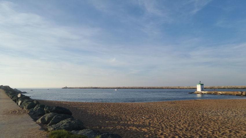 A la sortie du port de Bayonne.