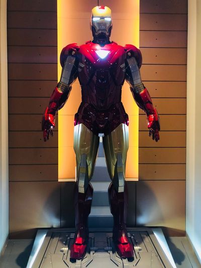 iron man 6 Marvel Disney Shanghai Iron Man Standing Front View One Person Architecture Full Length Technology Indoors