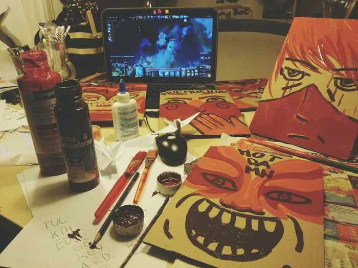Watching ti5 & crafting .go team secret Dota2 Ti5 Craft Art