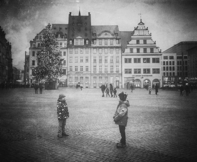 Conversations - MAinLoveWithLightAndShadow and Little Boys Talking Having A Talk On The Streets Street Streets Street Photography Street Photo Street Life Urban City Life Urban Exploration Urban Photography Monochrome Black And White Bnw Bnw_collection Bnw_life Bnw_maniac Children People Conversations How I See People How I See The World #Marktplatz #Leipzig
