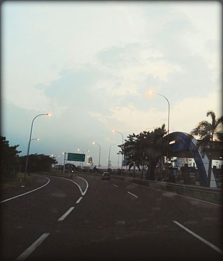 Evening at highway Highway Panorama Captured Moment Sweet Moments