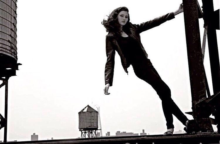 Nichole Martinez/Elite NYC Watertowers Brooklyn NewFace Wow😊 Blackandwhite Blackjeans Blackleatherjacket Fashion Photography Fashion Model EyeEm Best Shots EyeEm Best Shots - Black + White EyeEm Masterclass