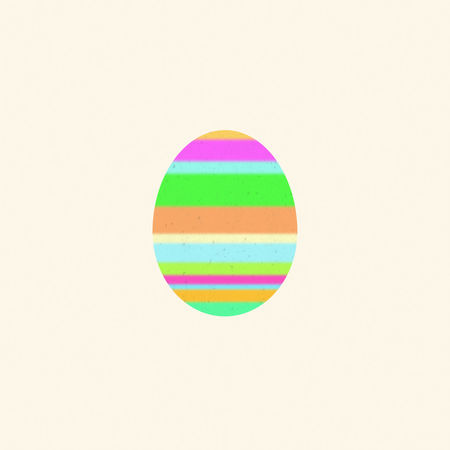 Multicolored Easter egg on a beige background. Digital art Art ArtWork Beige Background Christianity Collage Art Cut Out Decor Decorated Design Digital Art Digitally Easter Easter Eggs Graphic Illustration Isolated Multicolored Ornament Pascha Pattern Religious Holiday Seasonal Stripes Pattern Texture Textured