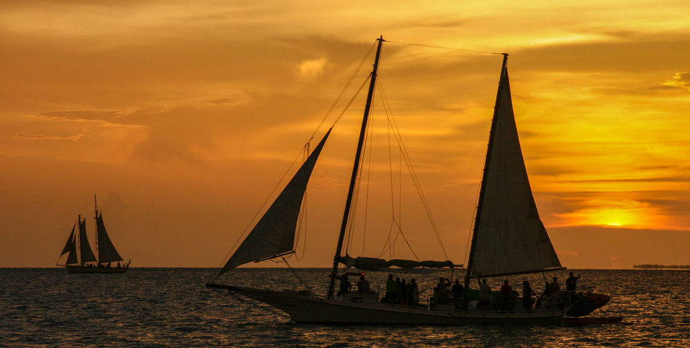 Sailing at sunset in key west