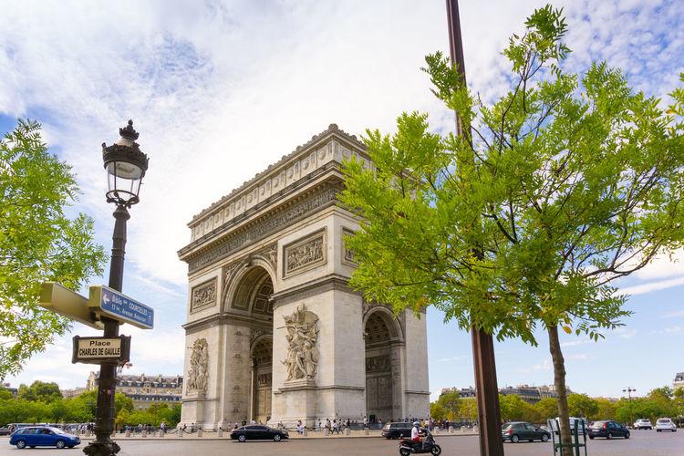 Triumphal arch in city