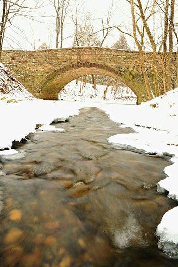 Stone Bridge Nikon D7100 Waterscape Water Snow Landscape_photography Water_collection Pennsylvania Beauty Pennsylvania
