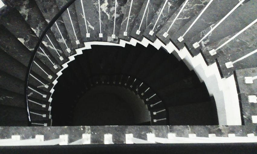 Steps leading to staircase
