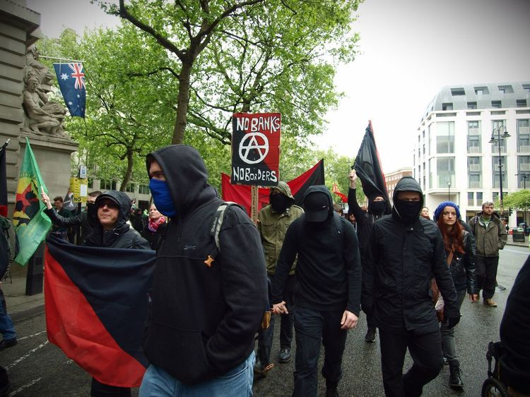 London May Day Protest. 01-04-2017 Black Bloc Photo Journalism Stevesevilempire May Day May Day 2017 London News Steve Merrick Olympus London Protesters Zuiko Protest