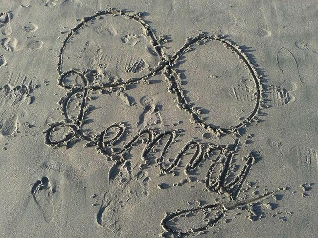 Took this in 2014 when I went to Santa Cruz Beach Board Walk Jenny Infinity Jenny Sand Beach Santa Cruz Beach Boardwalk No People Outdoors Santa Cruz Beach Infinity Foot Prints In The Sand Foot Prints