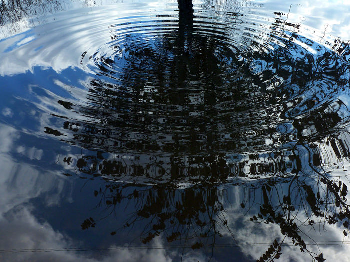 Scenic view of rippled water against sky