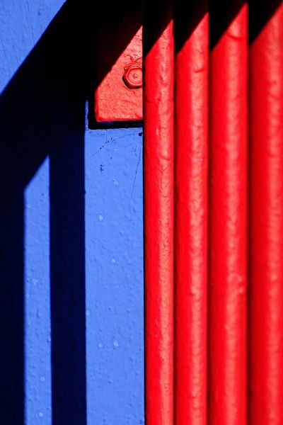 Minimalism Minimalist Architecture Abstract Vibrant Color Red Blue Shadow Light Mexican Colors Metal Paint