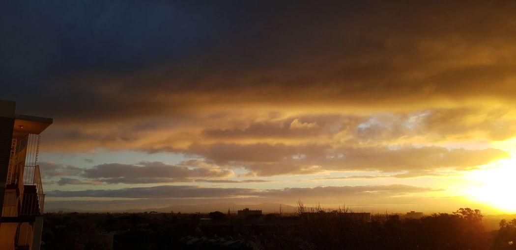 SUNRISE Yellow Skies Sunrise This Morning! Magnificent View City Cityscape Urban Skyline Dramatic Sky Sky Cloud - Sky Landscape Romantic Sky Atmospheric Mood