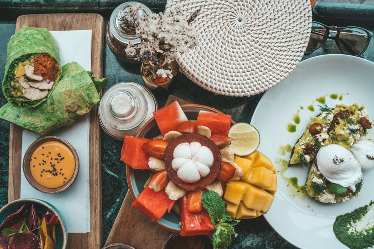 Food Food And Drink Table Healthy Eating Freshness Still Life Plate No People Wellbeing High Angle View Vegetable Indoors  Variation Choice Fruit Close-up Eating Utensil Ingredient Ready-to-eat Spoon