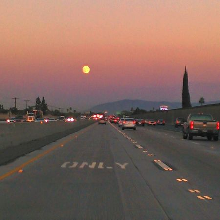 Super moon rising once again. Supermoon2014 Fullerton Freeway Colors