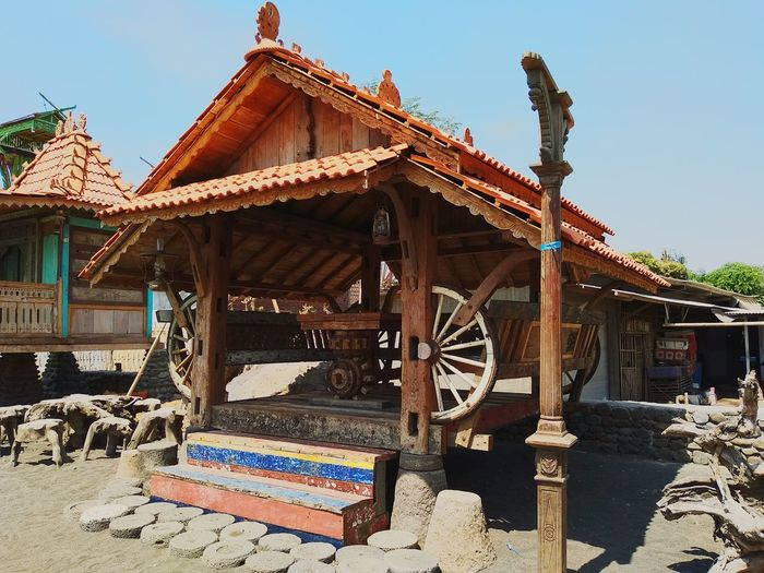 Traditional house of east java East Java Situbondoeastjava Javaculture Eastjava Traditional House Old House Cultures Multi Colored Business Finance And Industry Sky Architecture Wooden Historic