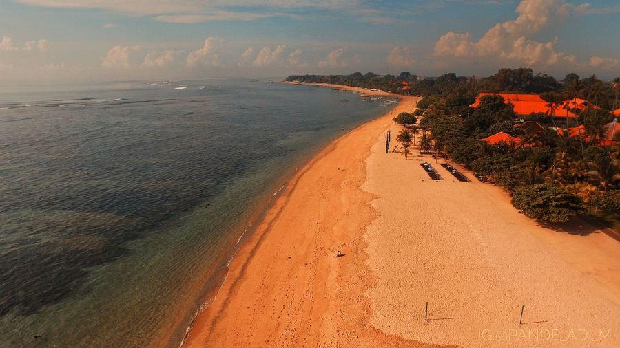Suasana pagi hari di pantai sanur Sand Beach Nature Travel Destinations Vacations Outdoors Baliphotography Bali Dji Phantom