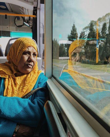 מייאוטובוס מייאייפון10 IPhoneX ShotOnIphone One Person Mode Of Transportation Real People Transparent Glass - Material Vehicle Interior Clothing International Women's Day 2019