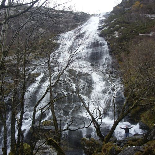 Waterfall Scotland Scottish Highlands Glennevis Beauty In Nature Beauty Wild Steallvalley Favourite Favorite Places Love this waterfall. Can you see me?