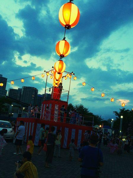 盆踊り 横浜市 みなとみらい とても 楽し かった。
