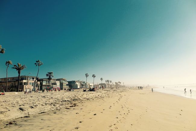 Mission Beach Beautiful Weather♡ California Feeling Day At The Beach 🌴🌞 Footprints In The Sand Great Shot Landscape Nature Summertime