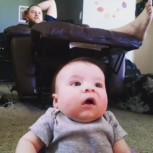 """""""Another penalty! Come on Seahawks!"""" Seahawks Likefatherlikedaughter"""