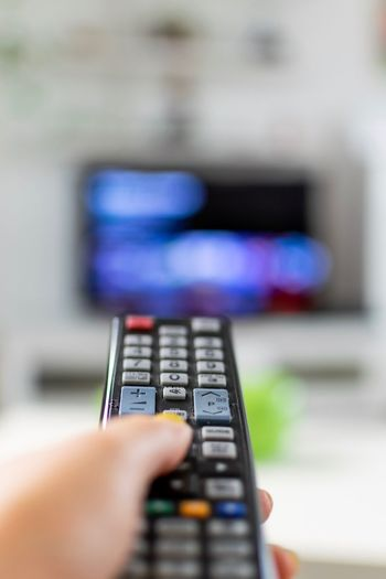 Human Hand Hand Human Body Part Holding One Person Close-up Remote Control Selective Focus Technology Watching Tv Television Set Remote Finger Control Focus On Foreground