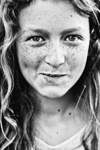 Portrait Close-up Child Girl Freckle Freckles Freckled Girl Freckle Face Headshot One Person One Girl Only Real People People Looking At Camera Black & White Black And White Blackandwhite Beauty Looking At Camera Human Face Expression EyeEmNewHere Resist Art Is Everywhere Fresh on Market 2017 The Portraitist - 2017 EyeEm Awards BYOPaper! Live For The Story Black And White Friday A New Beginning
