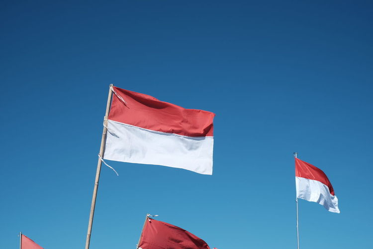 Merdeka! Flag Patriotism Sky Red Wind Nature Clear Sky National Icon Independence