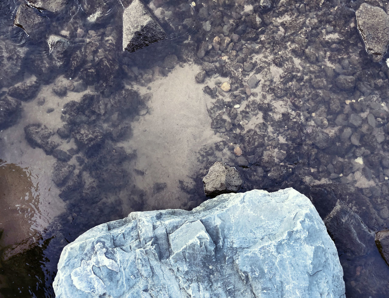 ice, nature, no people, rock, high angle view, day, solid, cold temperature, frozen, water, rock - object, winter, close-up, outdoors, textured, glacier, geology, rough, environment, purity