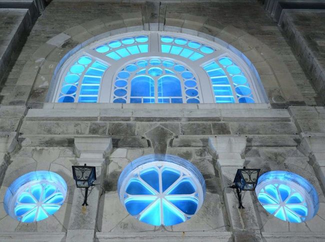 Church Blue Color Grand Night Pretty St.sauveur