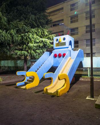 Childhood City Life Deep Night Kids Park Night Old Rome Portrait Robot Slide Urban