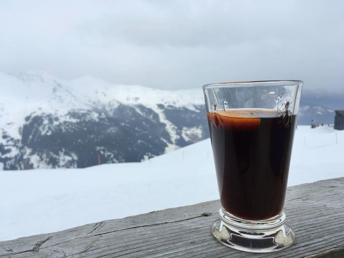Glühwein - Lenzerheide, Switzerland 2017 Drink Food And Drink Refreshment Cold Temperature Drinking Glass Freshness Sky No People Table Close-up Day Nature Alcohol Outdoors Beer Glühwein