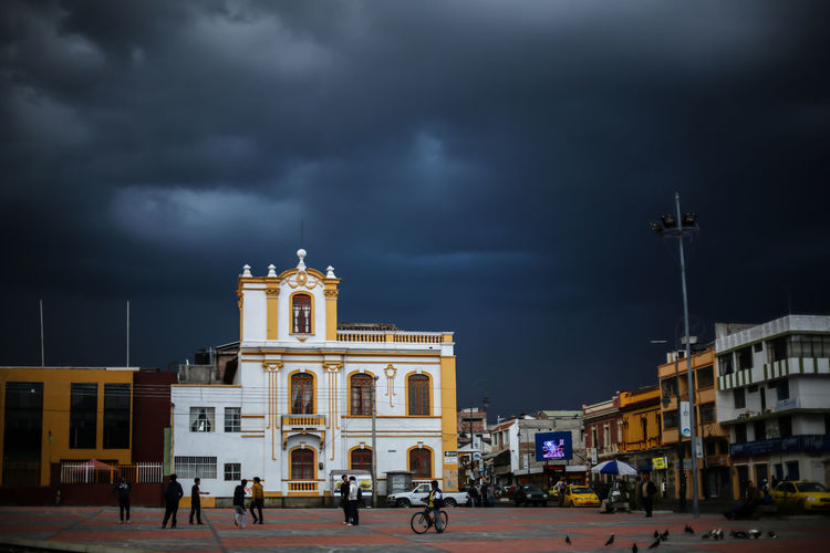 Architecture Building Exterior Built Structure City Cloud - Sky Day Ecuador Men Outdoors People Real People Sky Streetphotography Thunder Travel Destinations