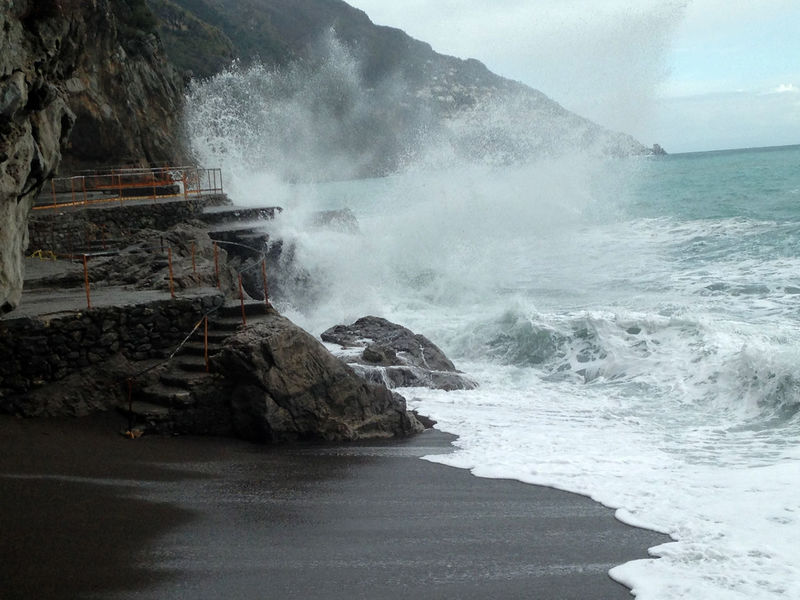 Amalfi Coast Beauty In Nature Crash Day Erupting Force Geyser Hitting Italy Motion Nature No People Outdoors Positano Positano, Italy Power In Nature Sea Splashing Water Wave Winter Been There. Shades Of Winter