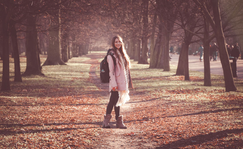 The Portraitist - 2018 EyeEm Awards Autumn Beautiful Woman Casual Clothing Change Clothing Day Fashion Full Length Hairstyle Land Leisure Activity Lifestyles Nature One Person Outdoors Plant Real People Standing Tree Tree Trunk Trunk Walking Warm Clothing Young Adult Young Women