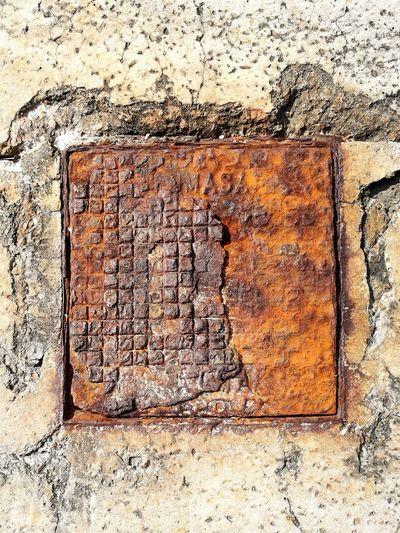Vintage Alcantarilla Oxidation Oxide Oxido  Alcantarillado Textured