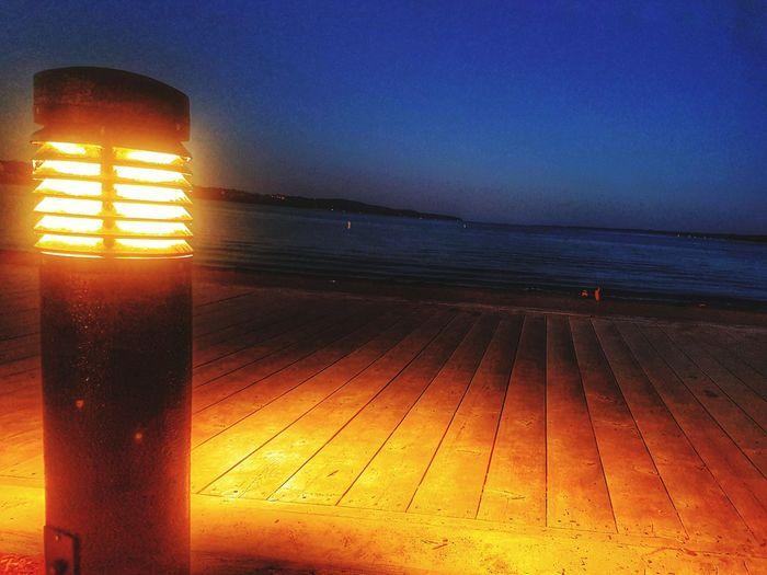 Water Sea Beach Sunset Sand Illuminated Summer Sun Heat - Temperature Sky
