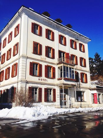Building Exterior Architecture Snow Cold Temperature Winter Built Structure Clear Sky Outdoors No People House Day Sky Oldhotel Hotelwithoutlife