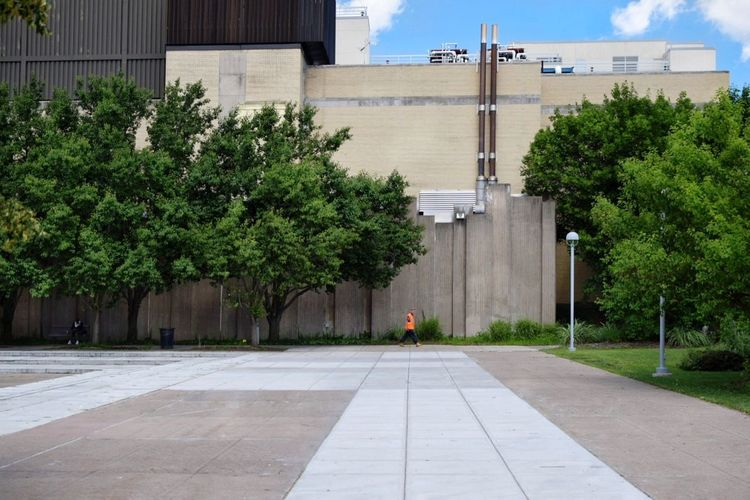 Tree Architecture Building Exterior Day Built Structure Outdoors City Cityscape Syracuse Ny Urban Plaza Industrial