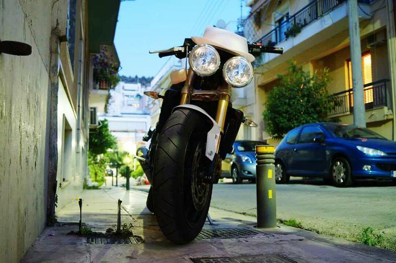 Triumph Motorcycle Street Triple R LoveMyBike Athens, Greece Nightshot