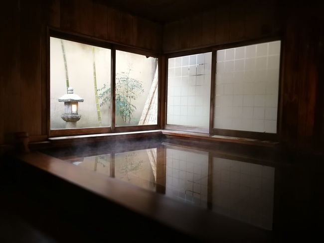 Bathtub Cypress Bath Day Hot Spring Indoors  Innocence Japanese  Japanese Bath Mindfulness No People Onsen Ryokan Scenics Spa Travel Window Zen