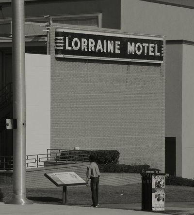 Martin Luther King Jr. Lorraine Motel One Person Real People Built Structure Architecture Building Exterior Civil Rights Museum Civil Rights  Non Violence Child Future
